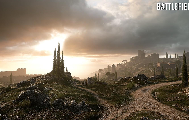 Photo Wallpaper Road, Hills, Fortress, Battlefield - Empire's Edge Battlefield 1 , HD Wallpaper & Backgrounds
