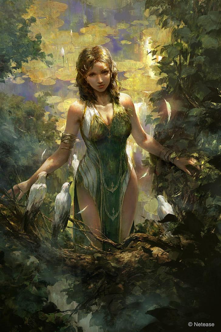 Mazert Young, Artwork, Fantasy Art, Fantasy Girl, Hd - Fantasy Art Fantasy  (#2534210) - HD Wallpaper & Backgrounds Download