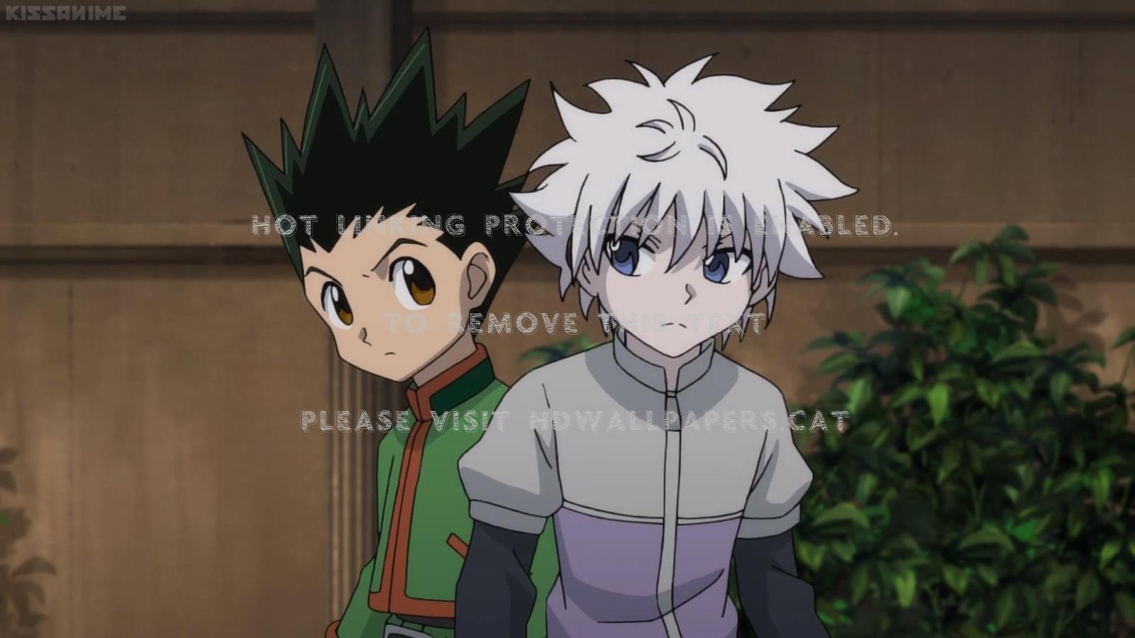 Gon / Killua Green Hair Spiky Hxh Anime Boy - Anime Boy Anime Green Hair , HD Wallpaper & Backgrounds