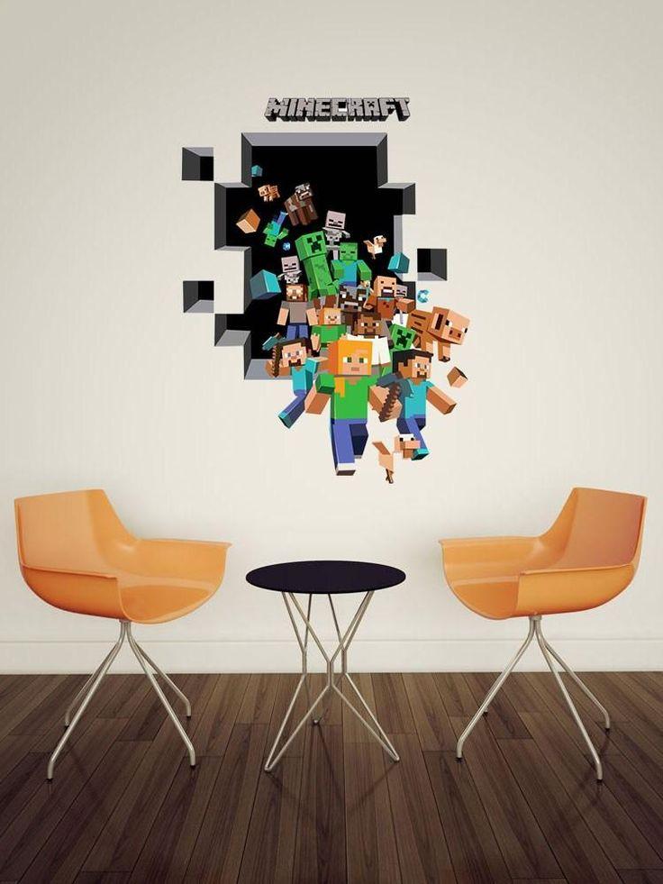 Minecraft 3d Wall Stickers , HD Wallpaper & Backgrounds