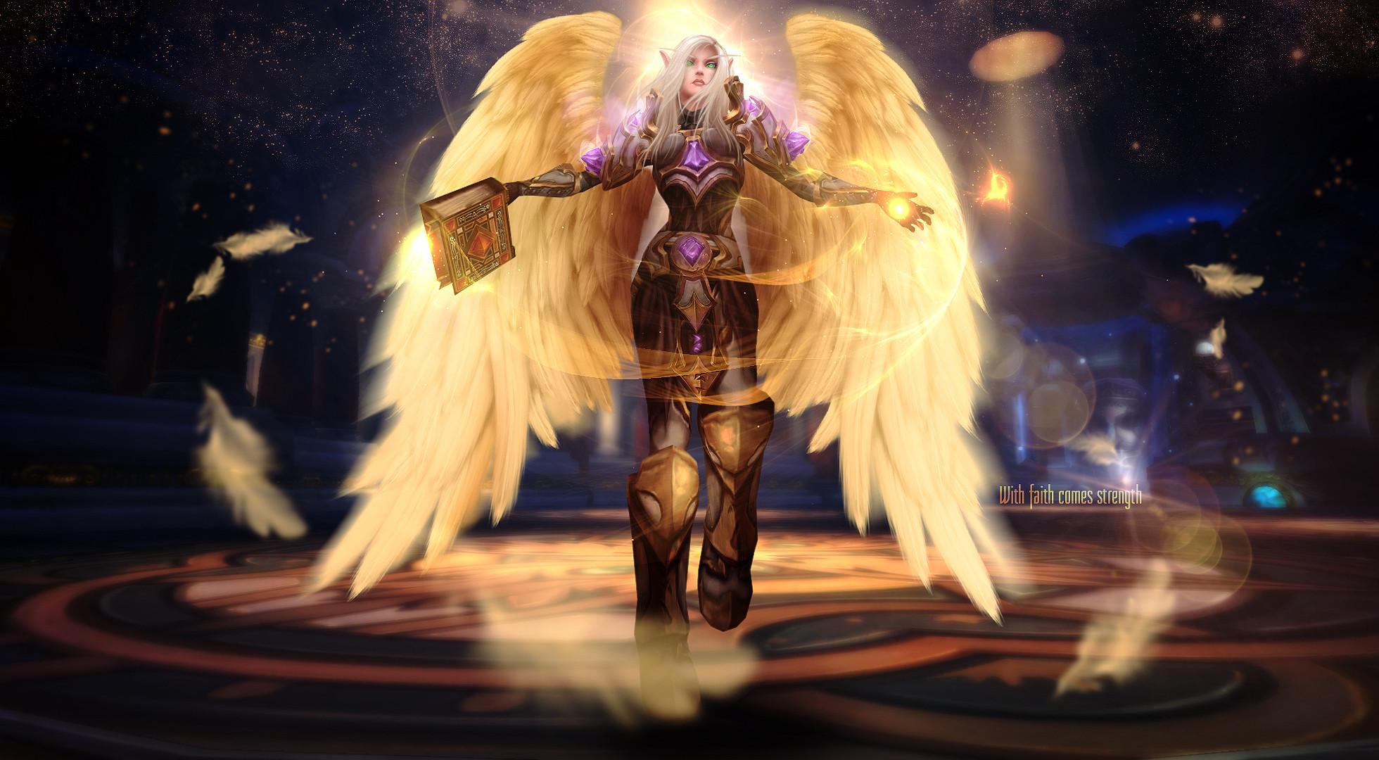 Wow Wallpaper 16 By Alyajna Wow Wallpaper 16 By Alyajna - Wow Holy Paladin Art , HD Wallpaper & Backgrounds