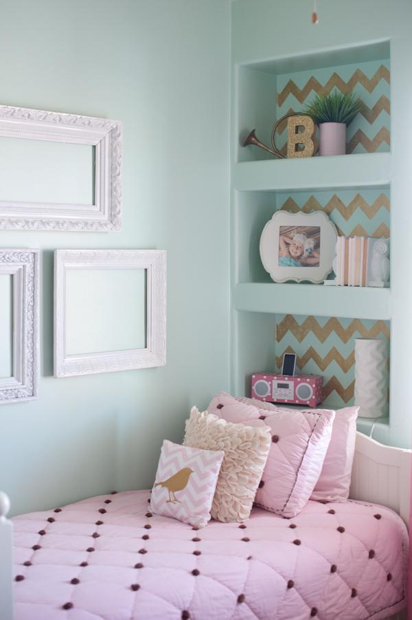 Bedroom Ideas Minecraft Pe - Girls Mint And Pink Bedroom , HD Wallpaper & Backgrounds