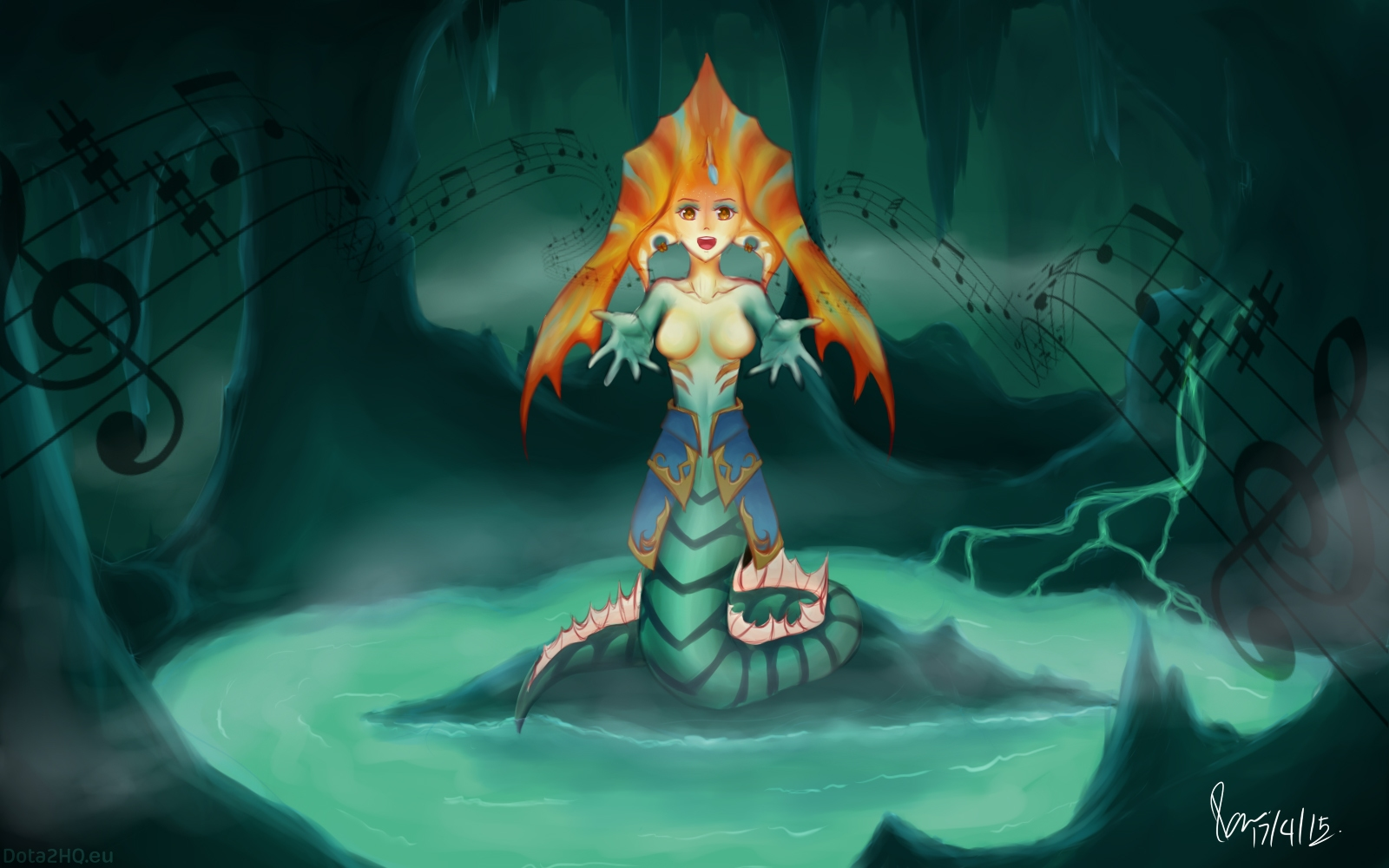 Dota 2 Naga Siren Fan Art , HD Wallpaper & Backgrounds