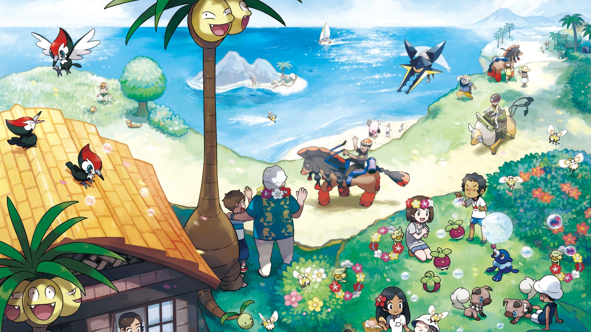 Pokémon Sun E Moon , HD Wallpaper & Backgrounds