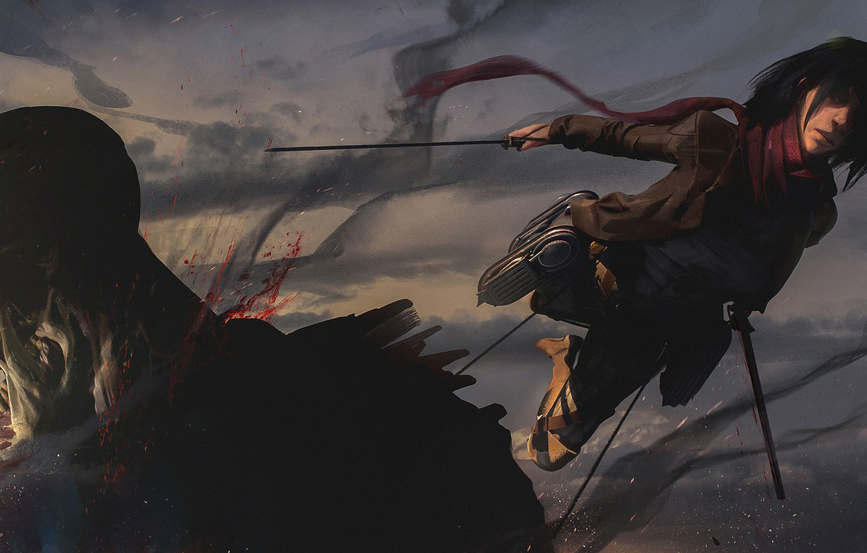Photo Wallpaper Girl Weapons Blood Titan Attack Superhero 2546836 Hd Wallpaper Backgrounds Download
