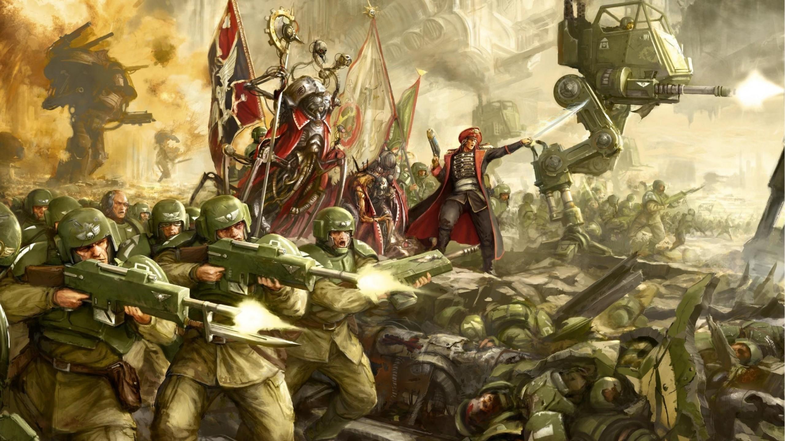 Imperial Guard Warhammer 40k Battle Soldiers Warhammer 40 000