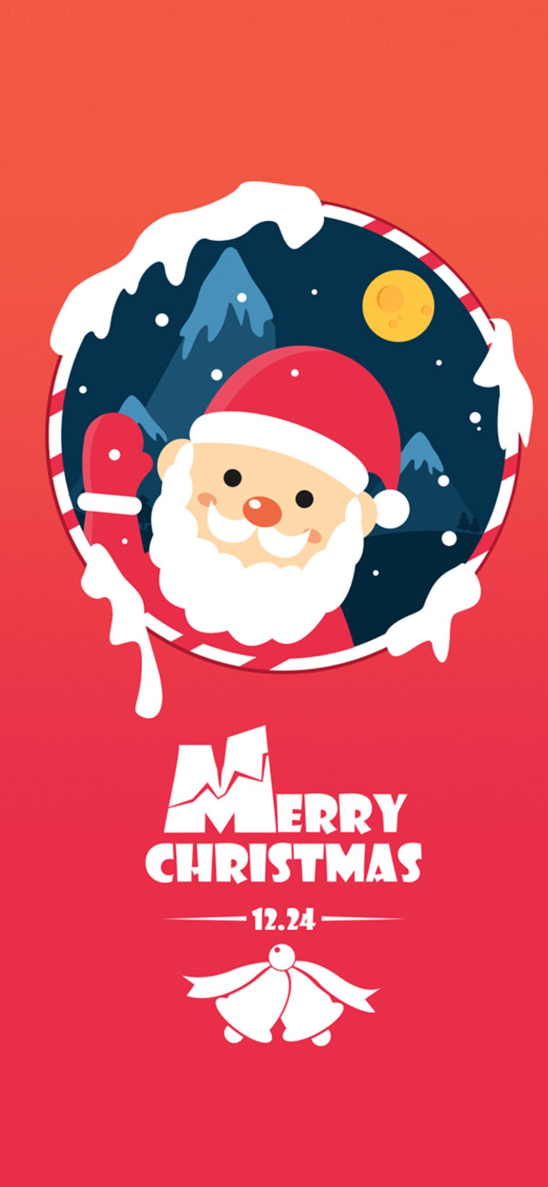 255 2558456 red santa cartoon christmas wallpaper iphone