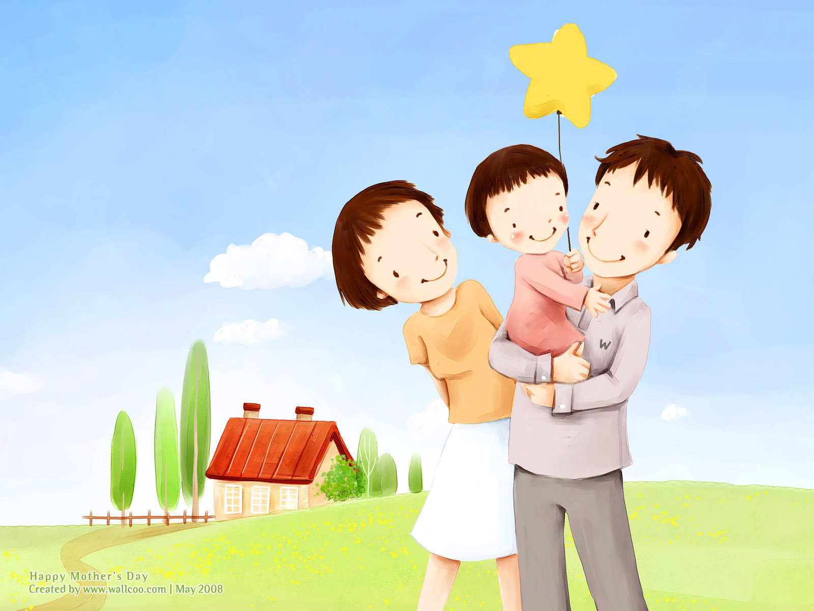 High Resolution Cartoon Illustraion Of Family Love Beautiful Family Pictures Cartoon 2558576 Hd Wallpaper Backgrounds Download