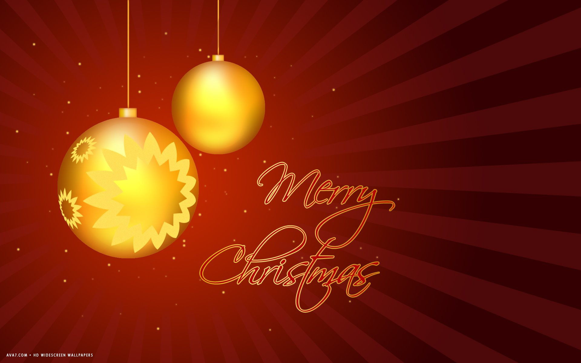 Merry Christmas Balls Red Vector Holiday Hd Widescreen - Christmas Day , HD Wallpaper & Backgrounds