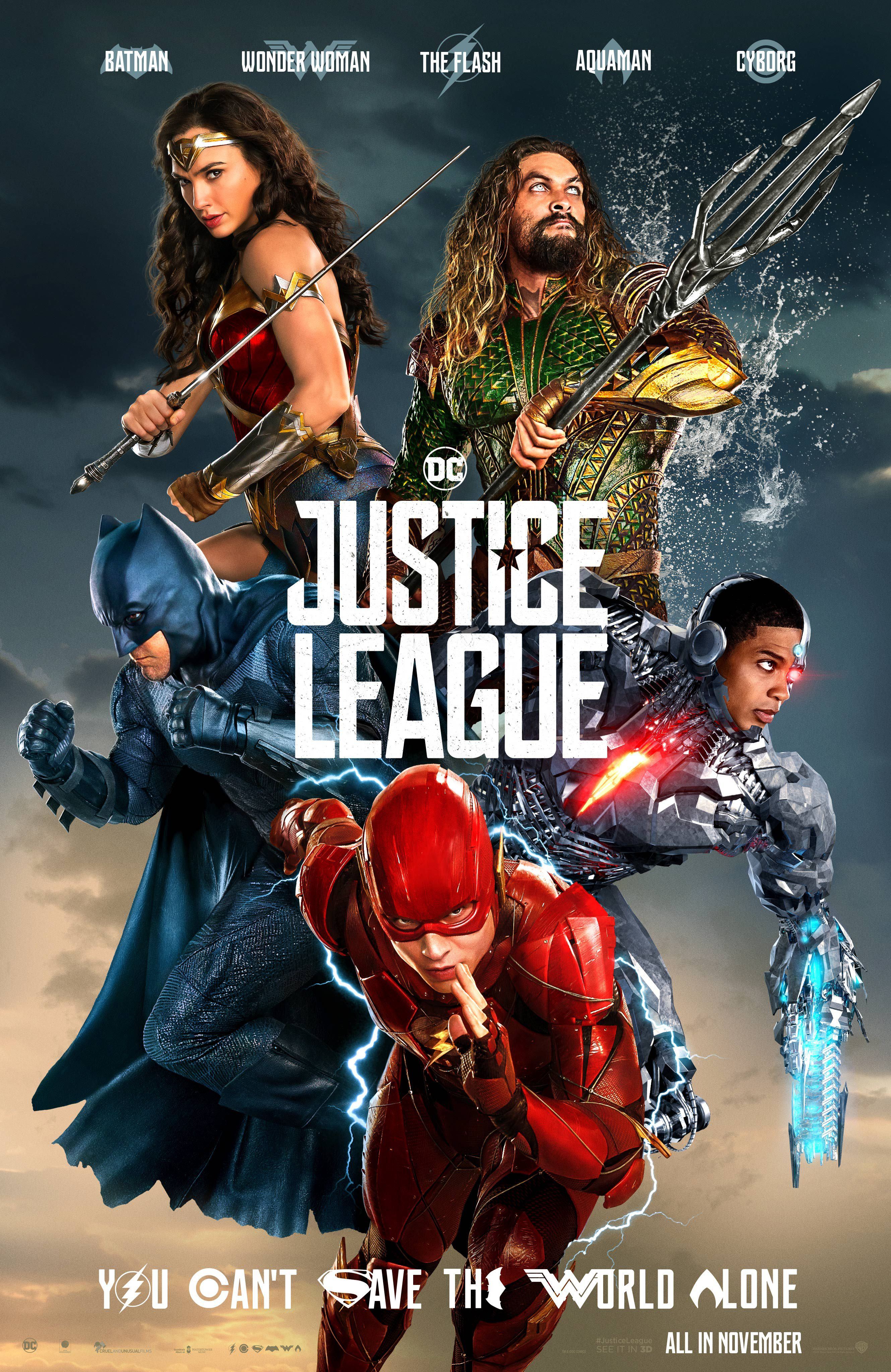 Justice League Cinema Poster , HD Wallpaper & Backgrounds