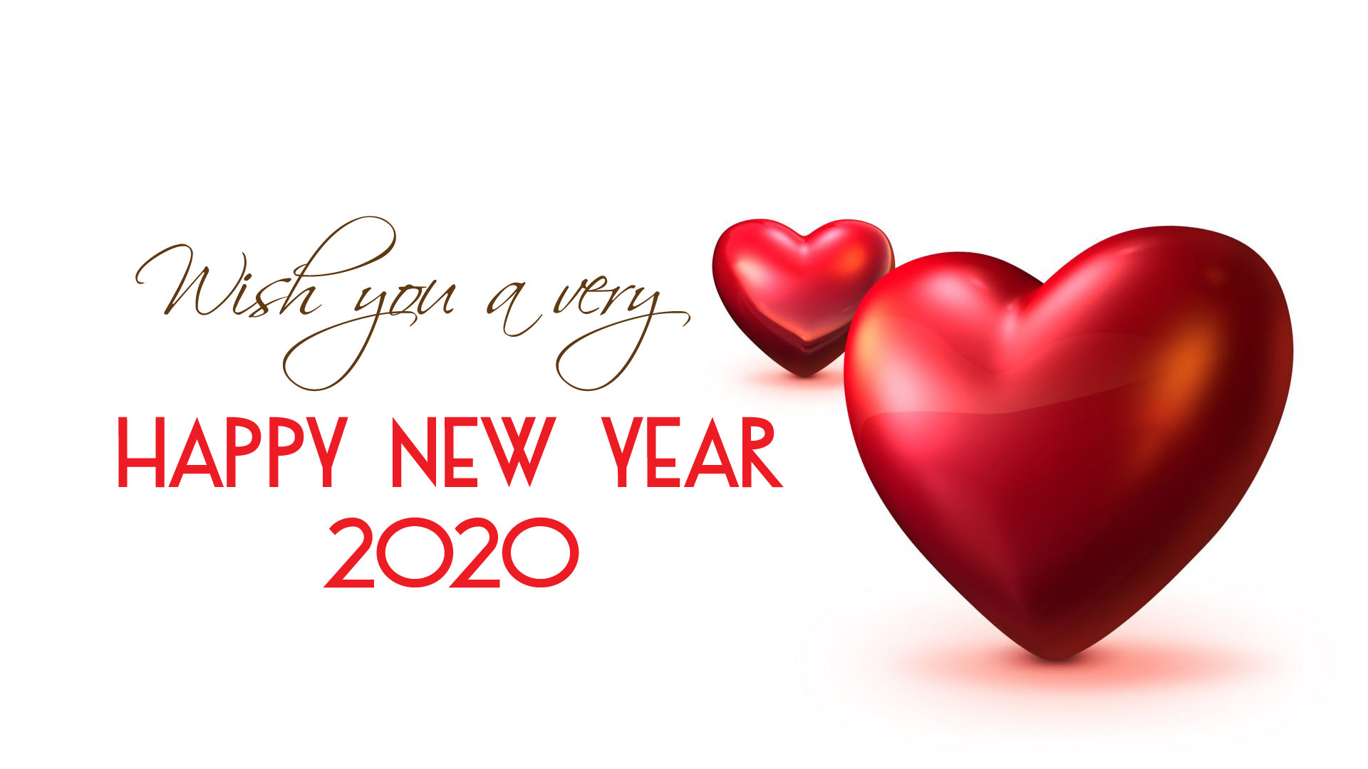 Wish You A Very Happy New Year 2020 Love Heart Wallpaper - Love Happy New Year 2020 , HD Wallpaper & Backgrounds