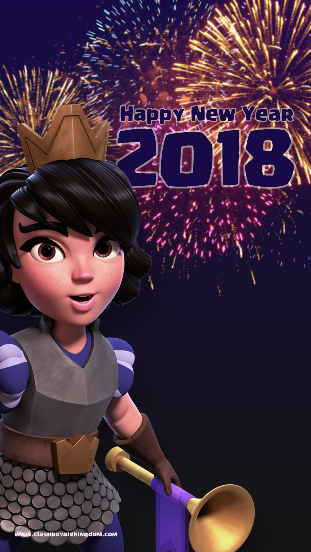 Clash Of Royale Happy New Year , HD Wallpaper & Backgrounds