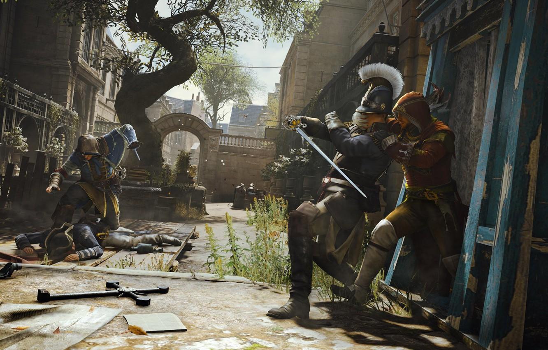 Photo Wallpaper Ubisoft, Assassin S Creed, Ubisoft - Assassin's Creed Unity Review , HD Wallpaper & Backgrounds