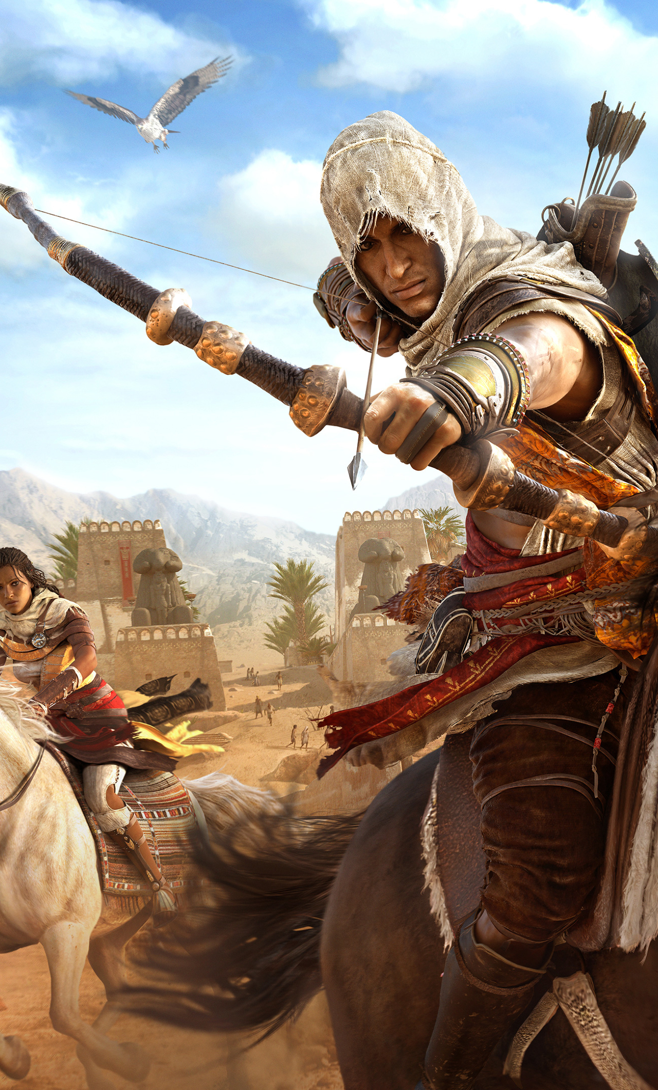 Assassin S Creed Bayek And Aya 2577357 Hd Wallpaper