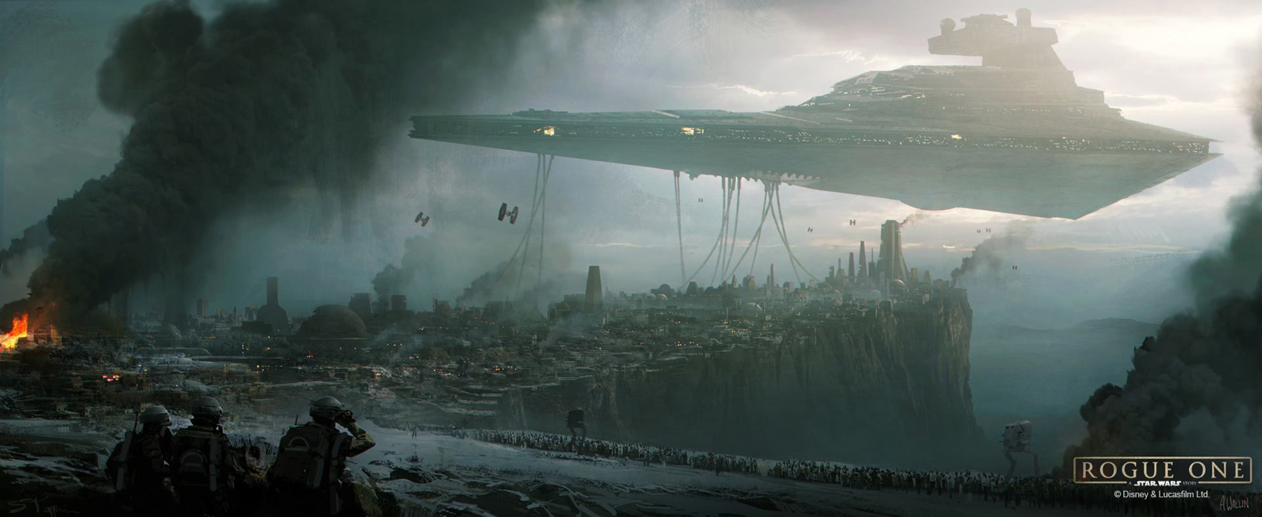 Star Wars Rogue One Jedha Concept Art By Andree Wallin Star Wars Imperial Occupation 2581111 Hd Wallpaper Backgrounds Download