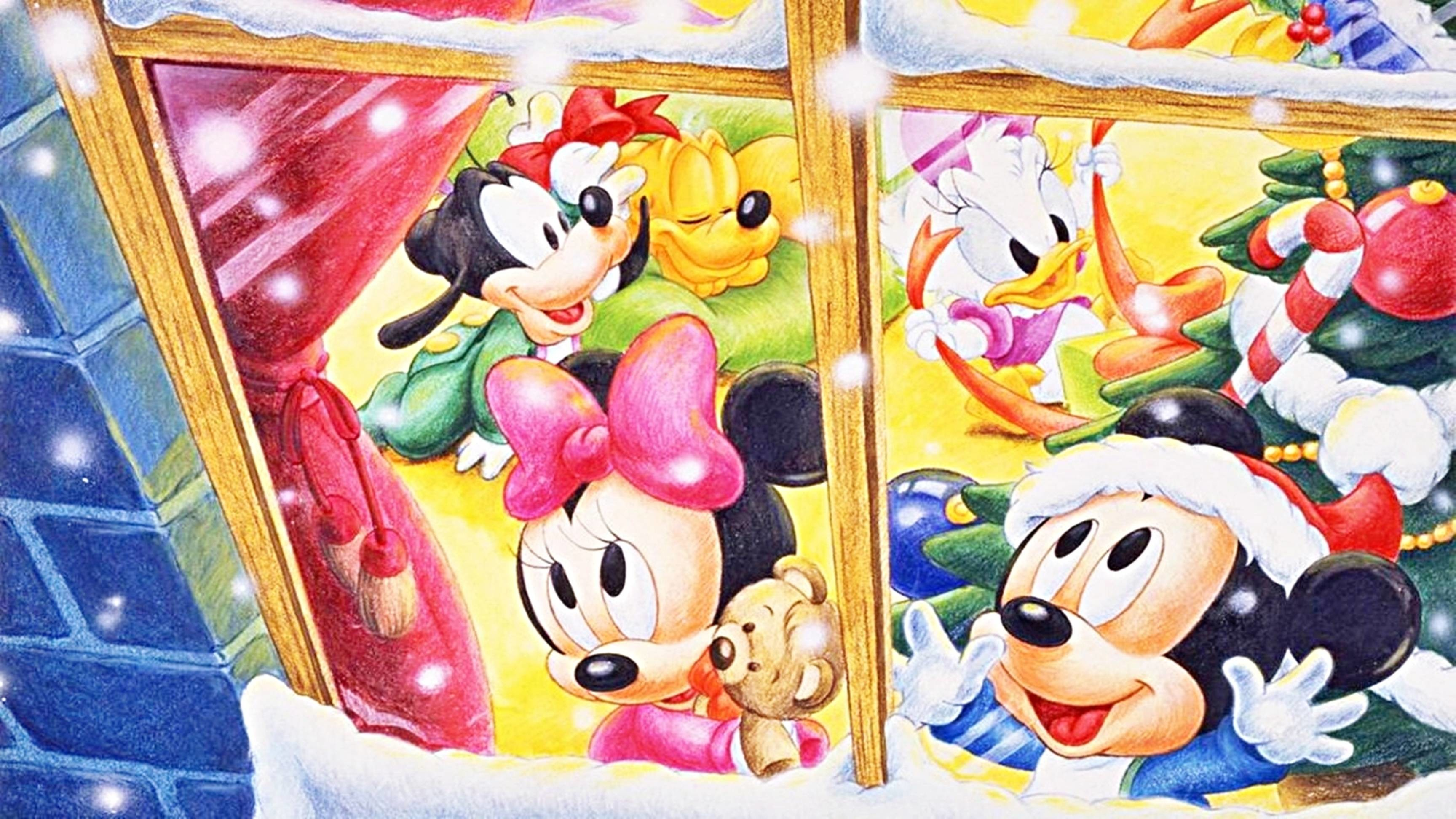 Disney Christmas Wallpaper Desktop - Christmas Wallpaper Walt Disney , HD Wallpaper & Backgrounds