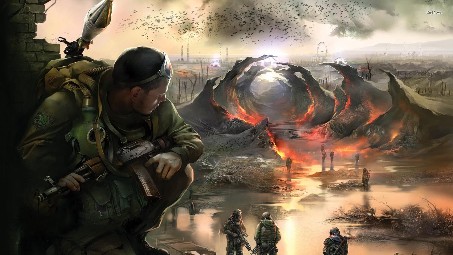 Stalker Shadow Of Chernobyl 2582411 Hd Wallpaper