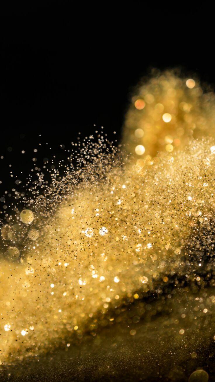 Gold Glitter Festive Christmas Iphone 11 Wallpaper Glitter