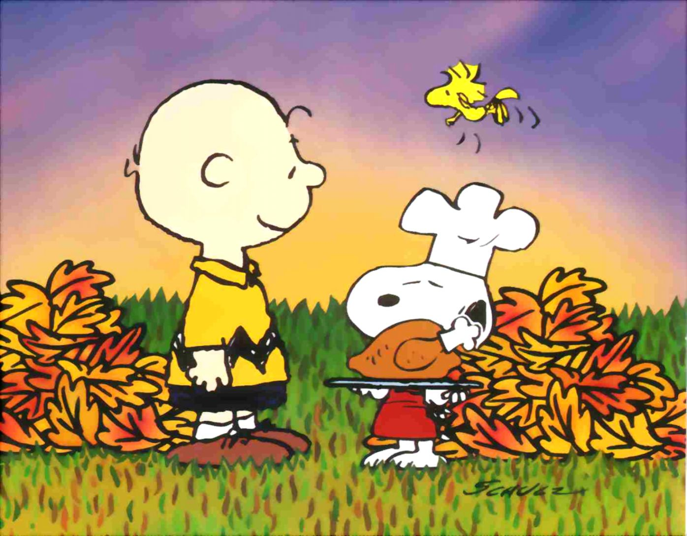 Free Thanksgiving Wallpapers Group - Snoopy Charlie Brown Thanksgiving , HD Wallpaper & Backgrounds