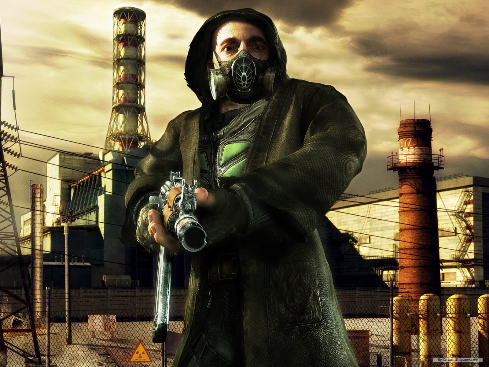 Free Game Wallpaper Stalker Shadow Of Chernobyl Gas Mask