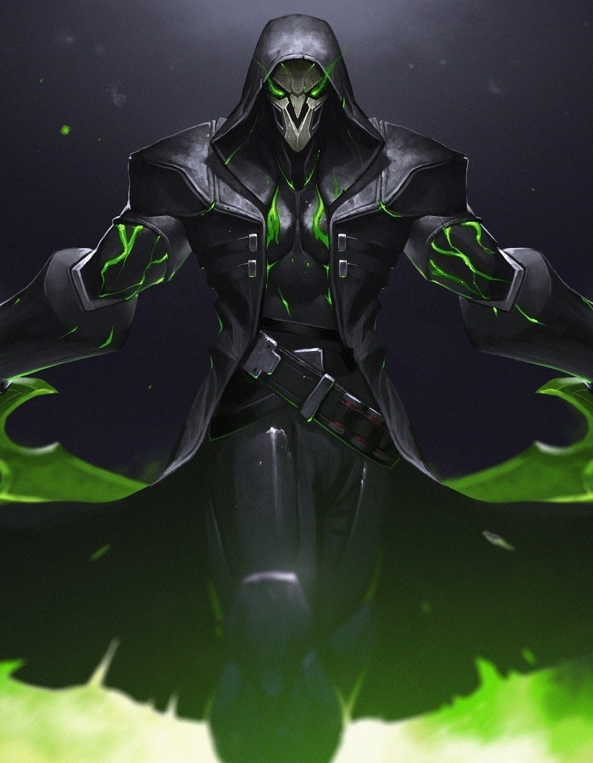 Green, Reaper, Overwatch, Warrior, Online Game, Wallpaper - Reaper Overwatch Wallpaper 4k , HD Wallpaper & Backgrounds