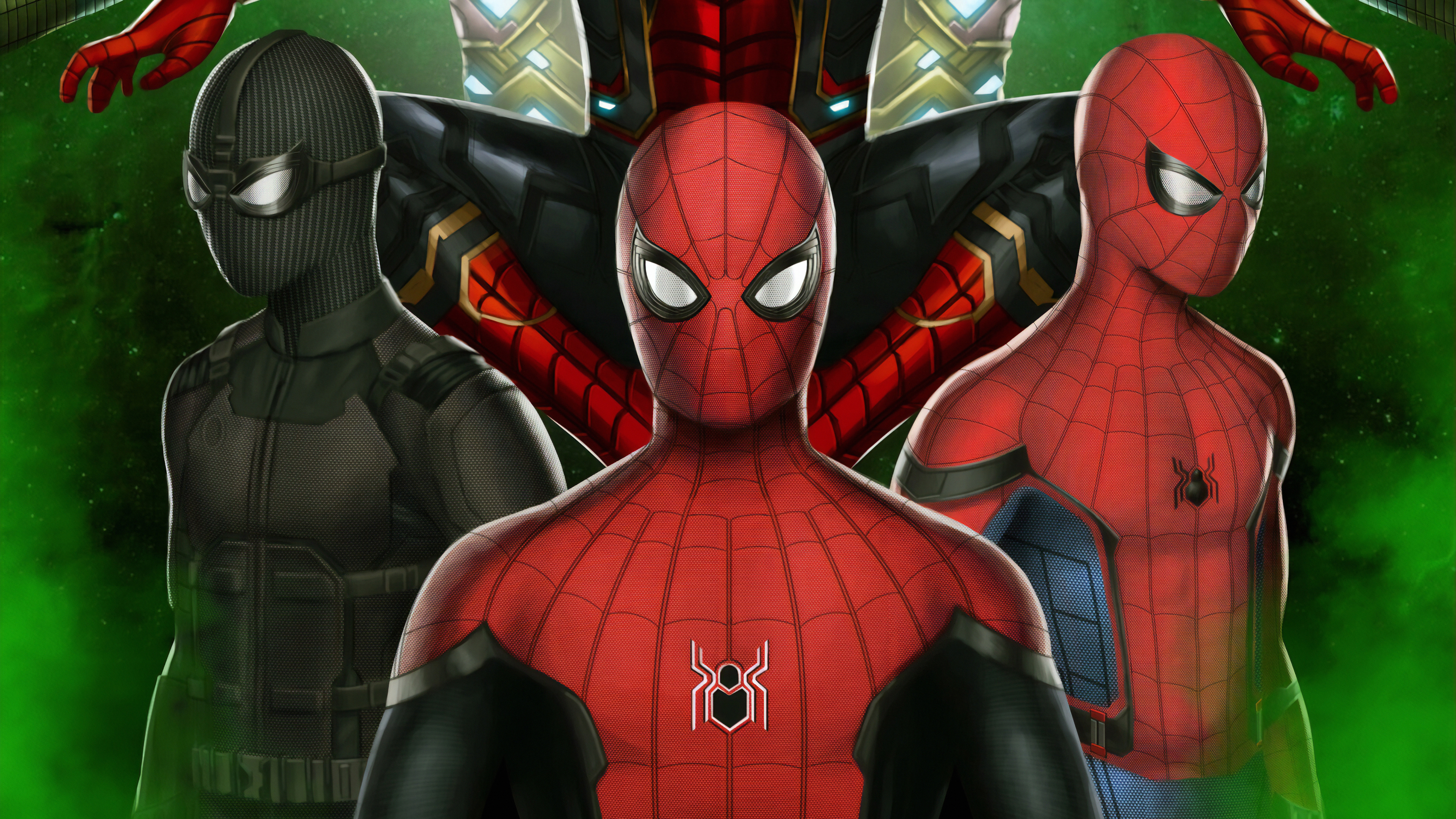 Spiderman Far From Home Suits , HD Wallpaper & Backgrounds