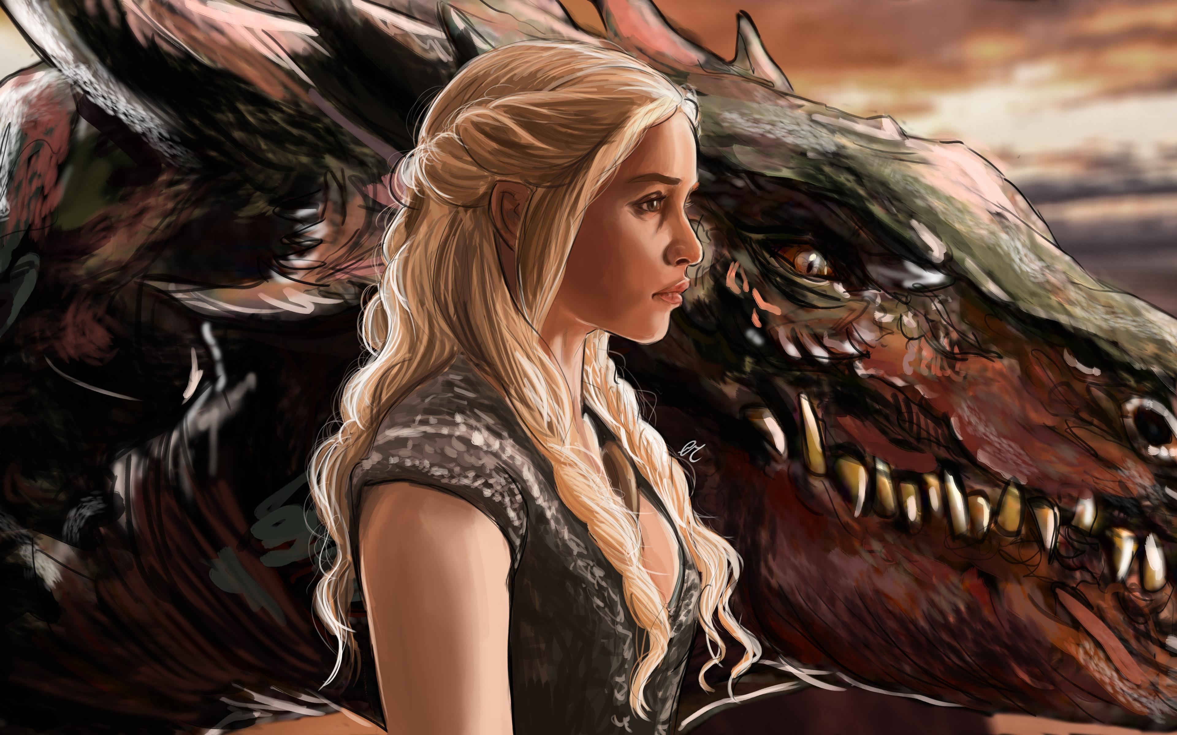 Daenerys Targaryen Fanart , HD Wallpaper & Backgrounds