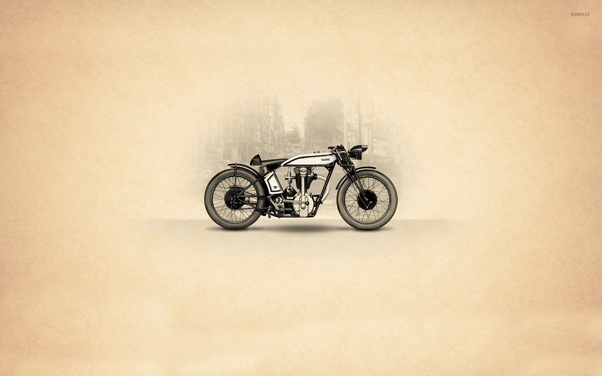 1929 Norton Cafe Racer Wallpaper Motorcycle 261806 Hd