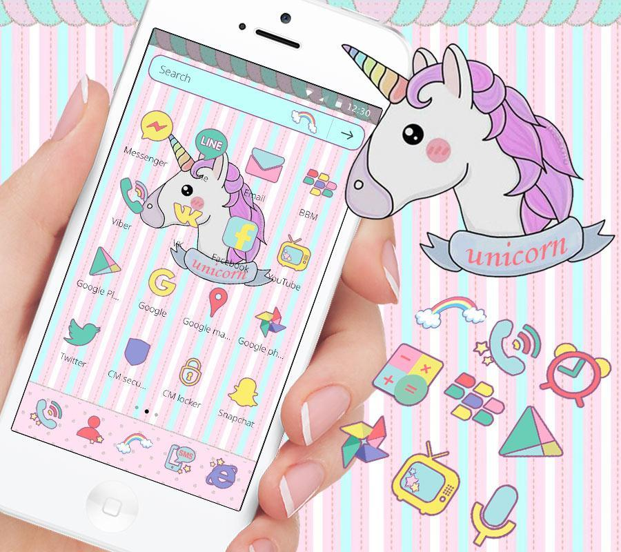 Unicorn Dream Theme For Android Unicorn Wallpaper Kuda