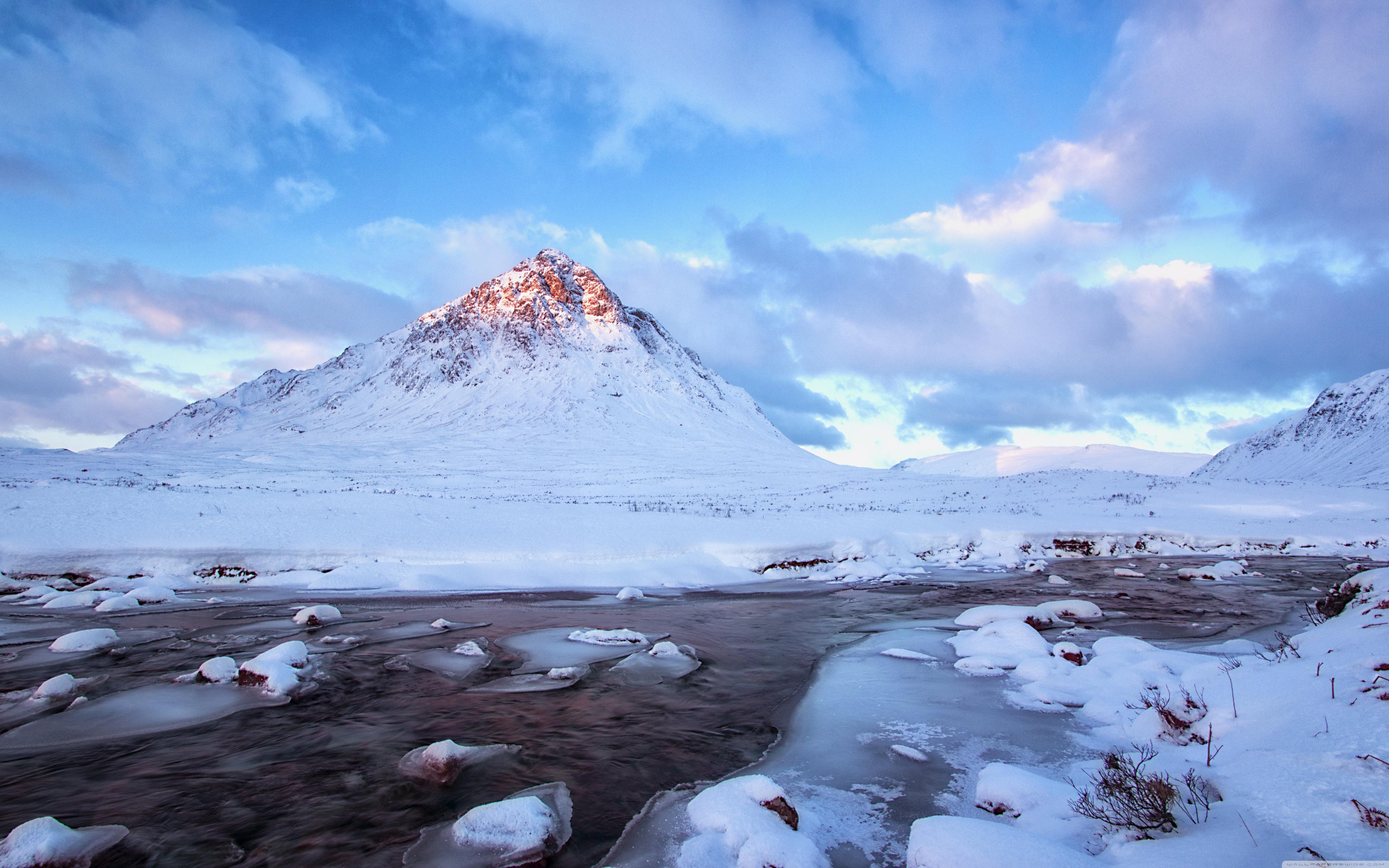 Snow Mountains Winter Scenery 4k - Snow Mountain Wallpaper 4k , HD Wallpaper & Backgrounds