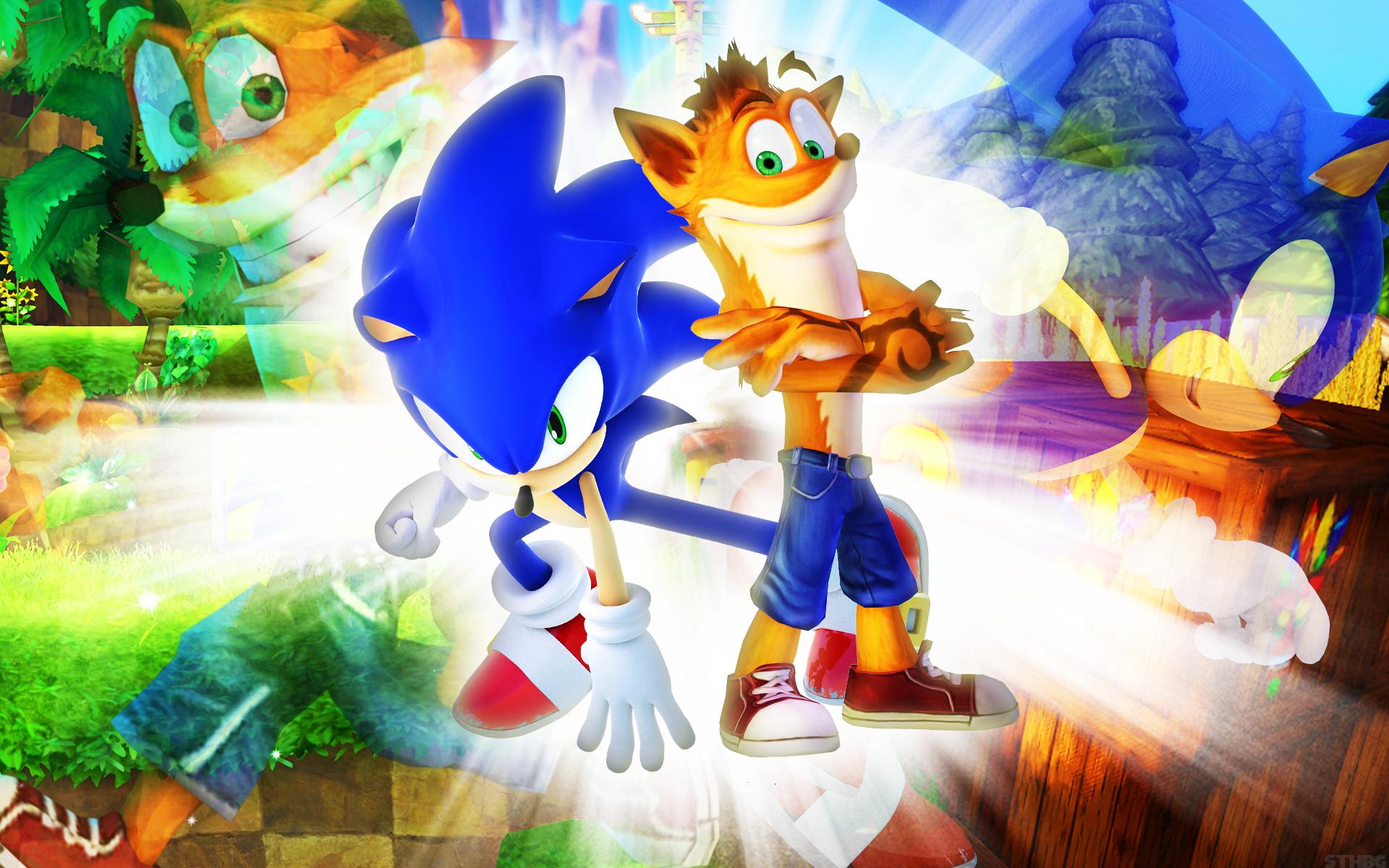 Sonic And Greninja Wallpaper Crash Bandicoot And Sonic 265935