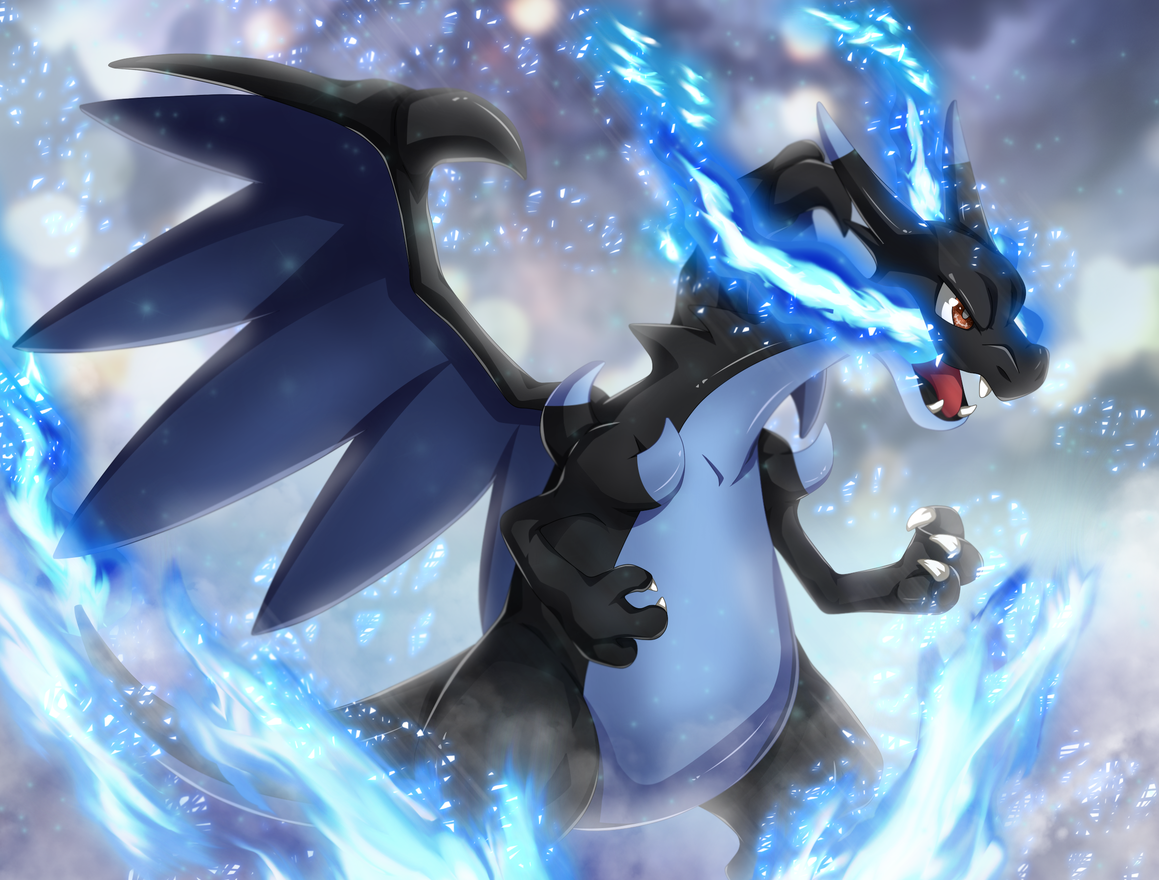 Anime Mega Charizard (#266071) - HD Wallpaper ...