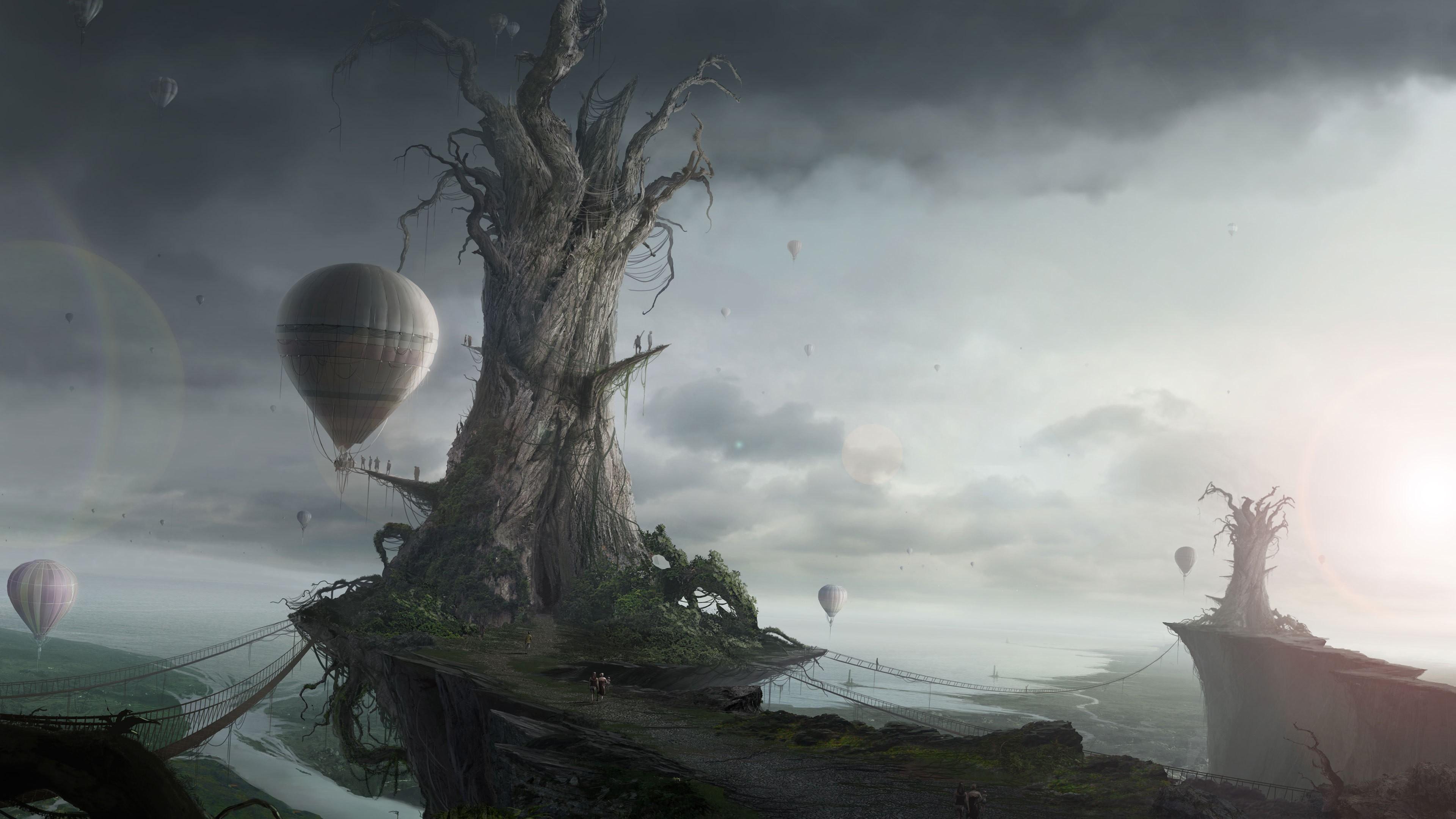 Hd Wallpaper - 4k Sci Fi Fantasy , HD Wallpaper & Backgrounds