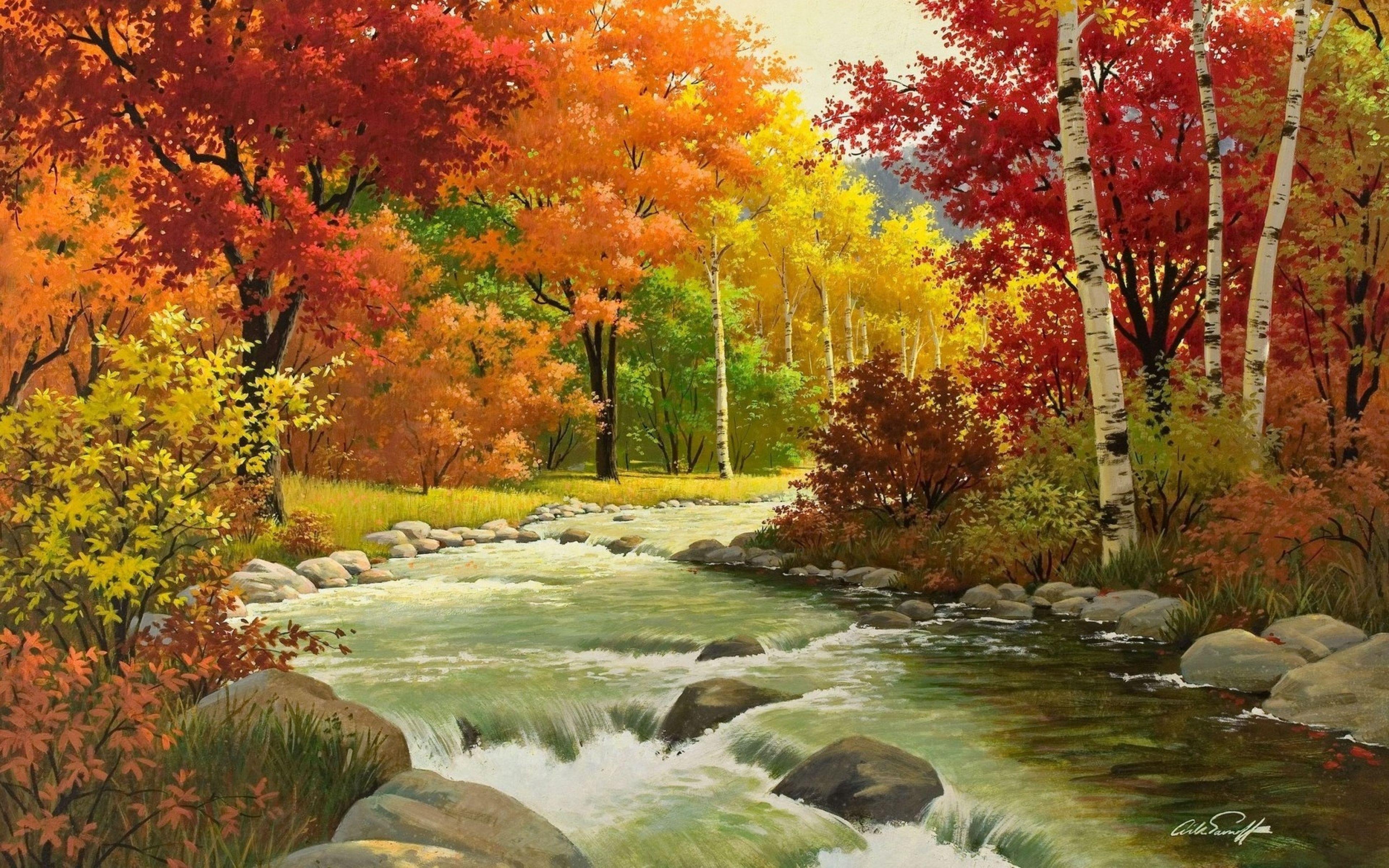 Landscape Paintings Full Hd , HD Wallpaper & Backgrounds