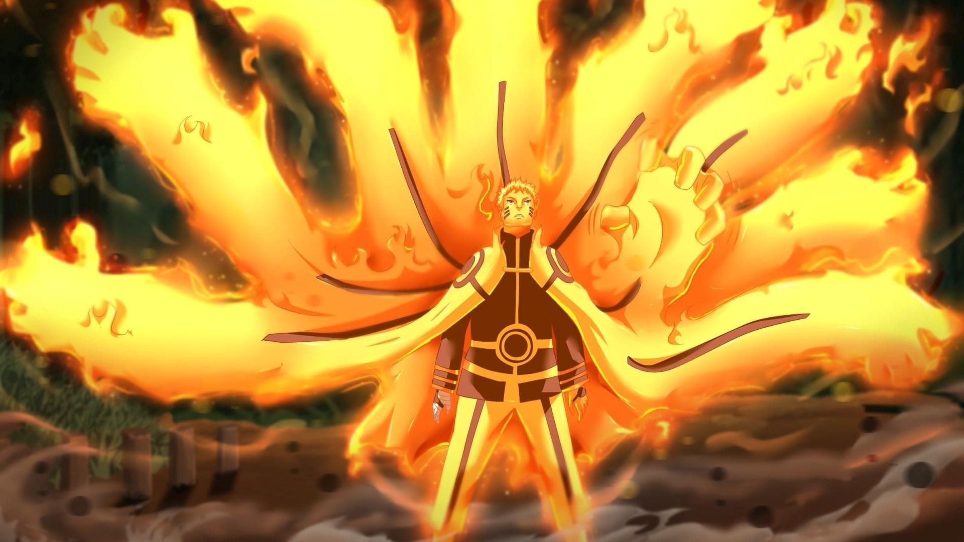 Uzumaki Naruto Nine Tails Chakra Mode Naruto 1080p Naruto