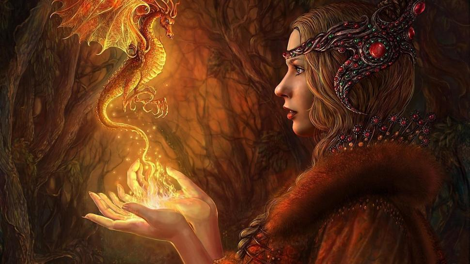 The Princes The Fairy Dragon Wallpaper,fairy Hd Wallpaper,dragon - Woman With Baby Dragon , HD Wallpaper & Backgrounds