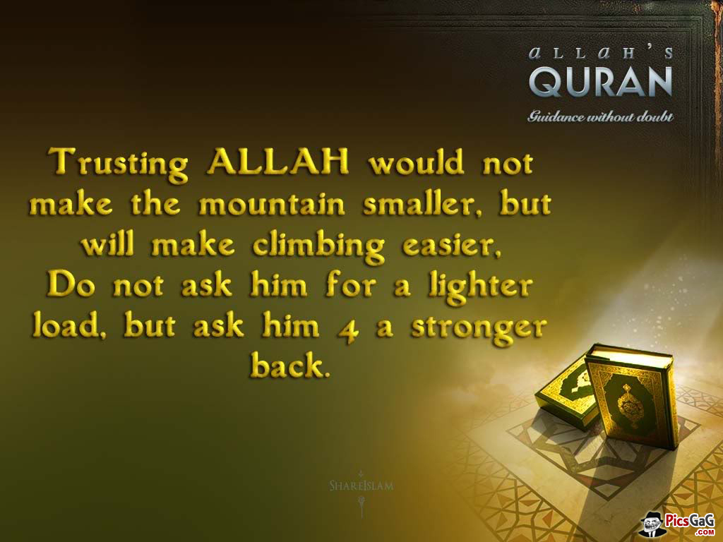 Trust Allah Islam Quote Which Guid You Trust In Allah - Quran Quotes About Birthday , HD Wallpaper & Backgrounds