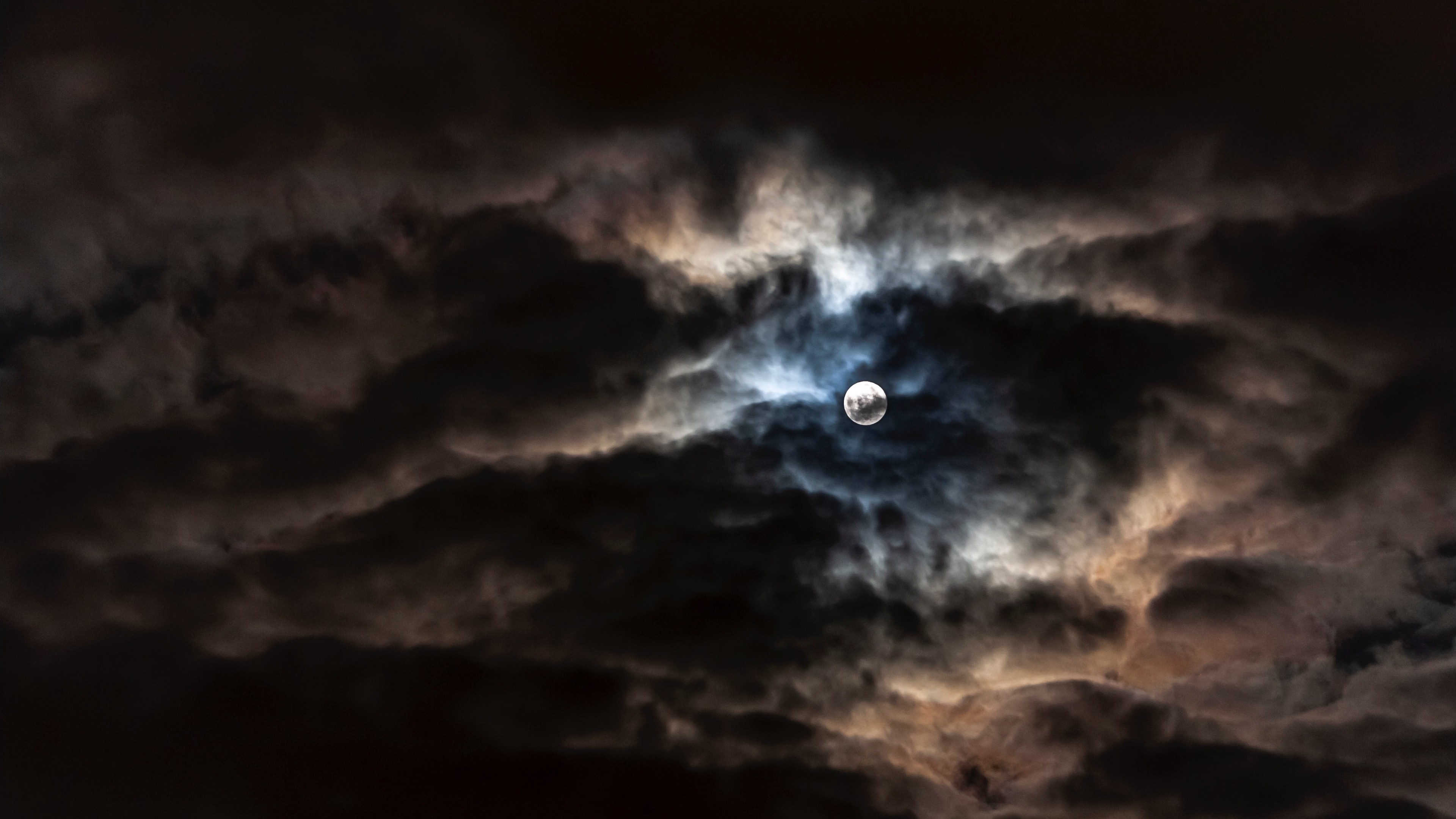 Full Moon With Clouds , HD Wallpaper & Backgrounds