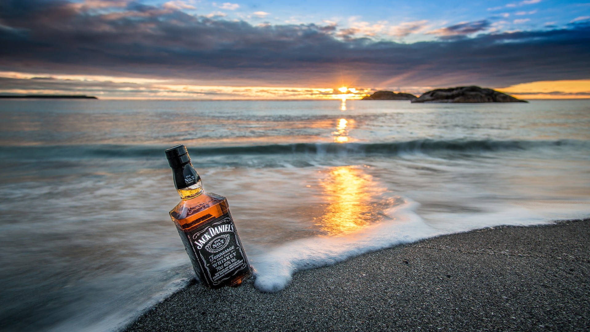 Jack Daniels The Beach HD Wallpaper