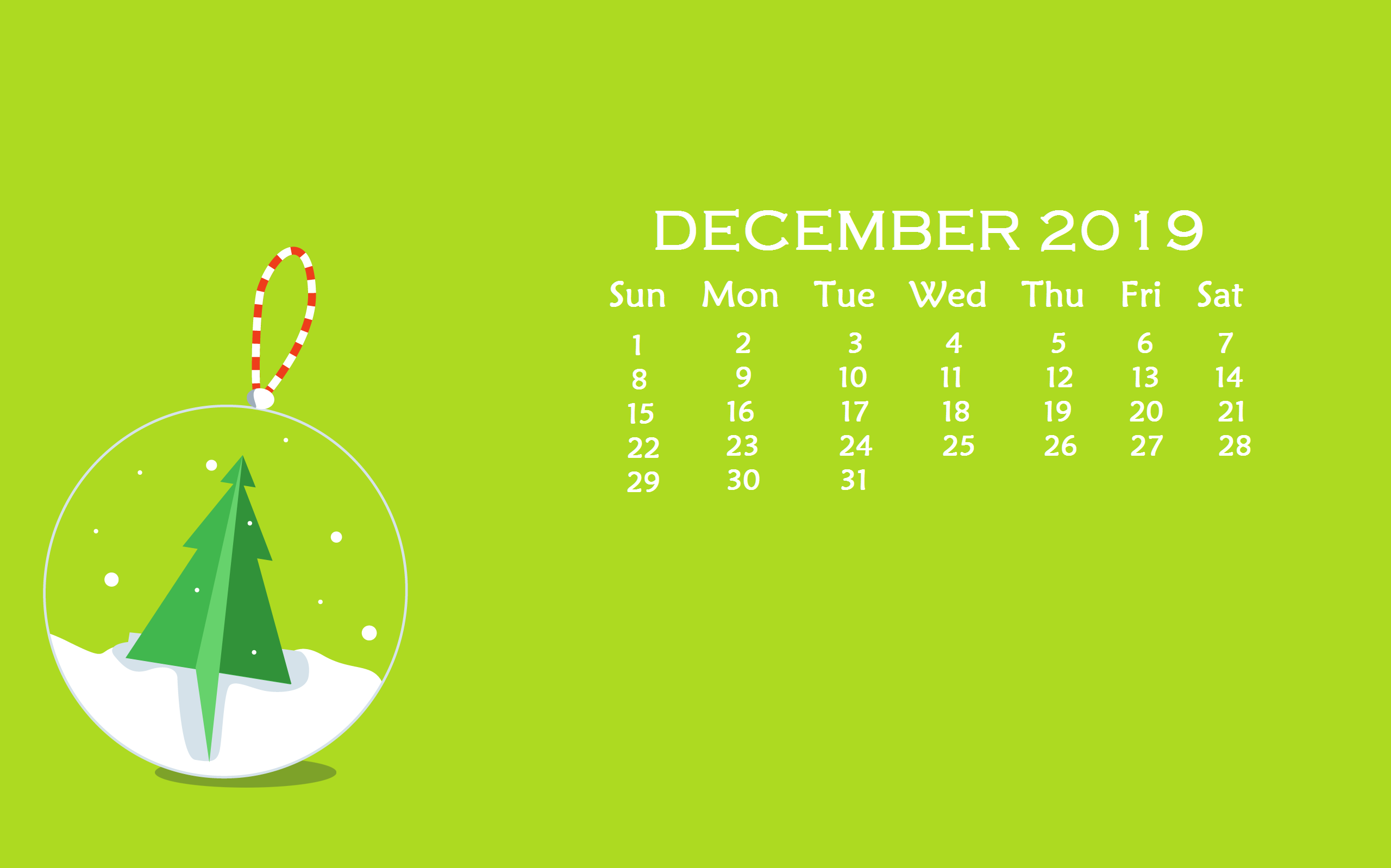 Christmas December 2019 Desktop Wallpaper - Desktop Wallpaper December 2019 , HD Wallpaper & Backgrounds
