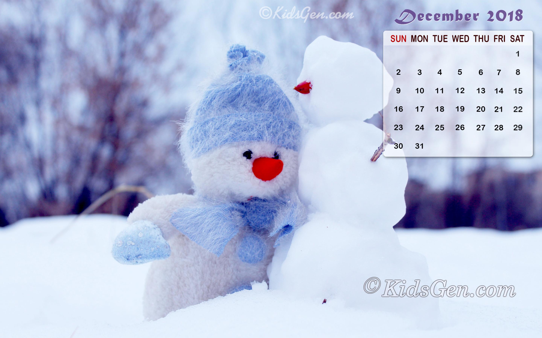 Calendar Wallpaper December 2018 , HD Wallpaper & Backgrounds