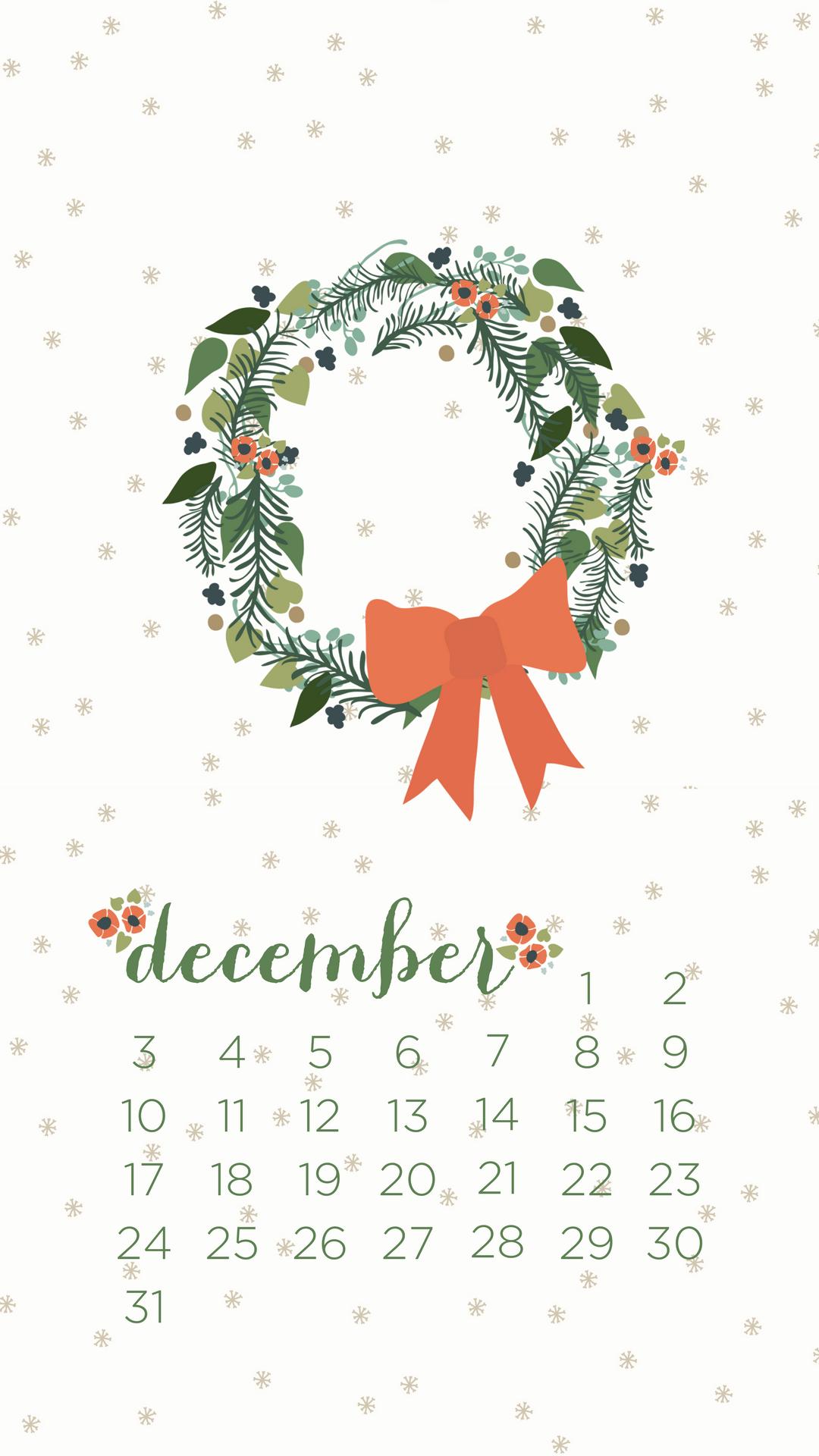 December 2017 Calendar Smart Phone Wallpaper - January 2020 Calendar Wallpaper Iphone , HD Wallpaper & Backgrounds
