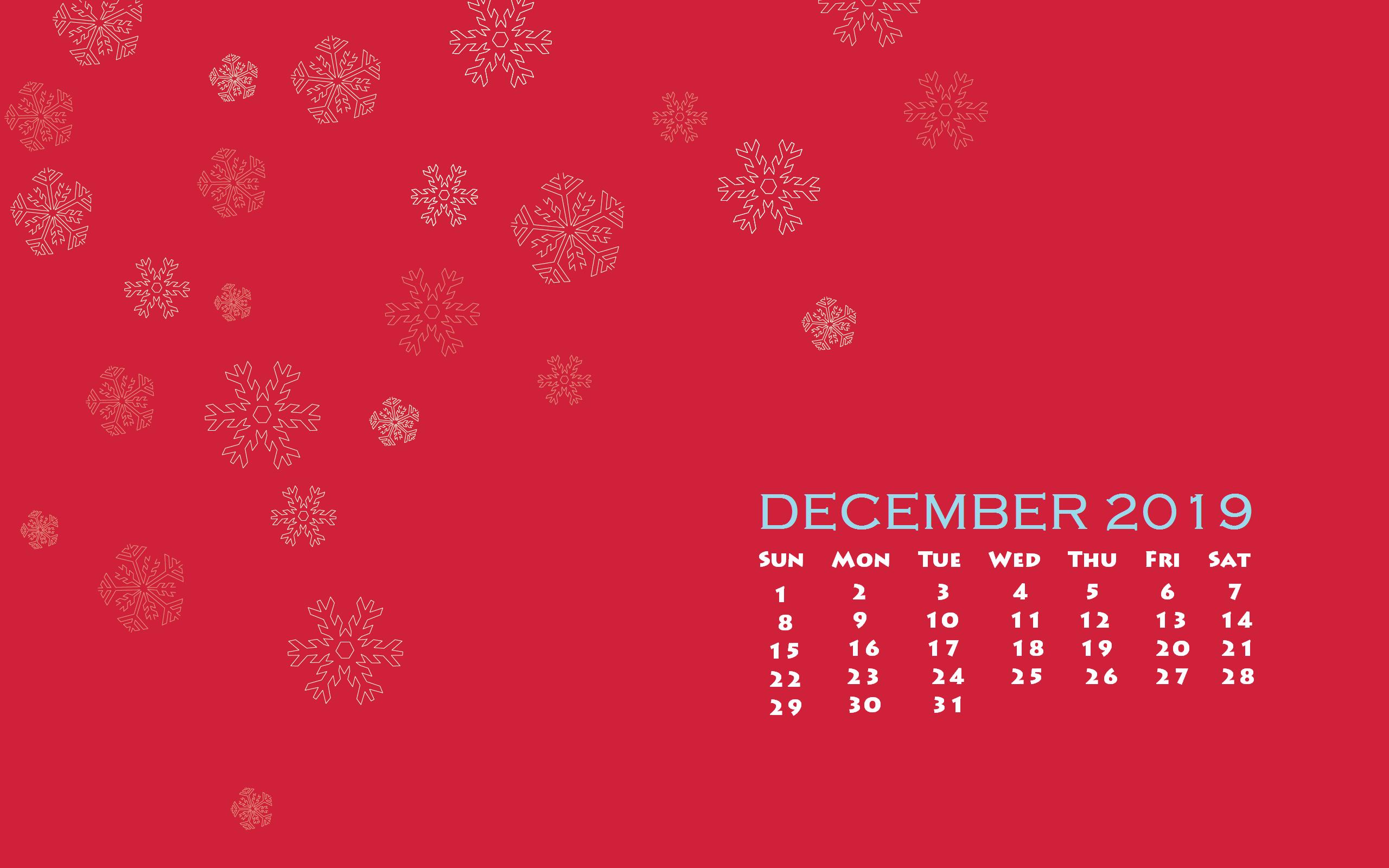 December 2019 Desktop Calendar Wallpaper - December 2019 Desktop Wallpaper Calendar , HD Wallpaper & Backgrounds