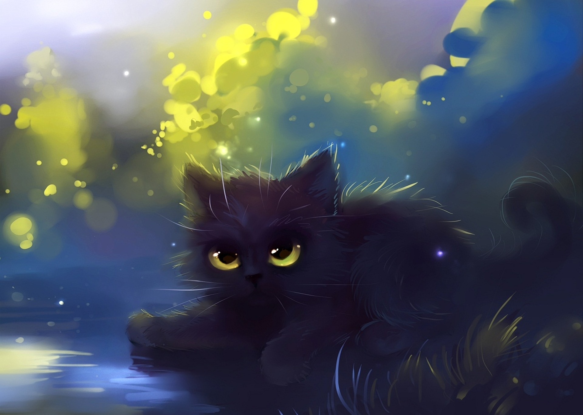 Anime Cute Black Cats 2624041 Hd Wallpaper Backgrounds Download