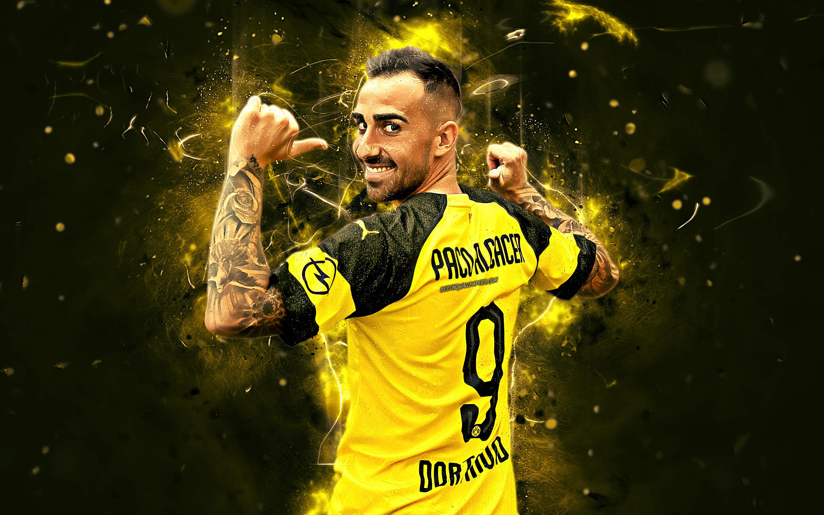 Borussia Dortmund Spanish Paco Alcacer Soccer Wallpaper Paco Alcacer 270901 Hd Wallpaper Backgrounds Download