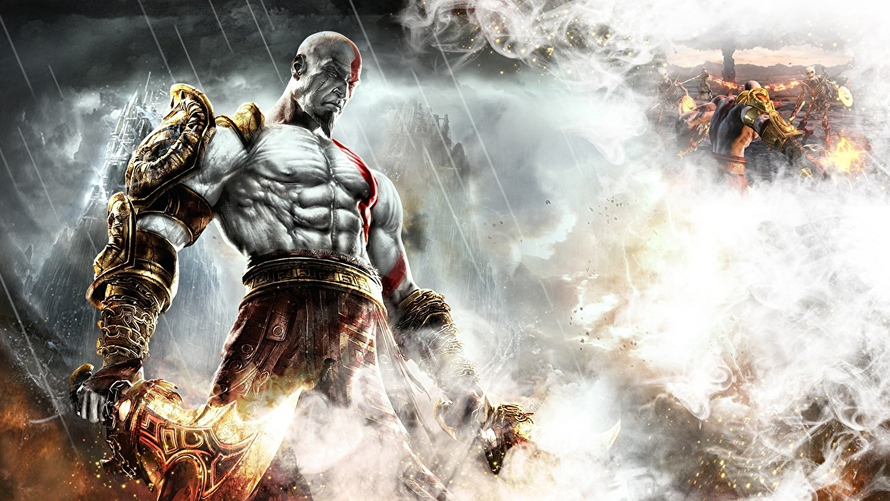 Wallpapers God Of War Warriors Men Smoke Fantasy God Of