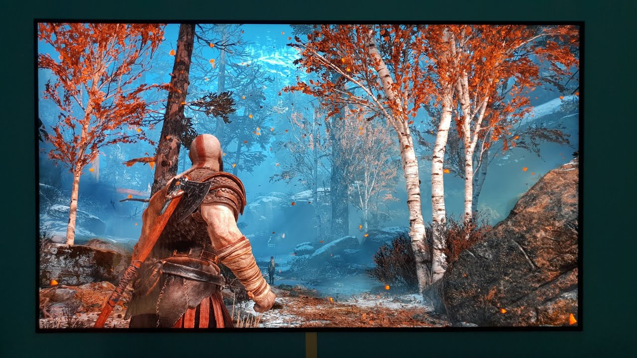 God Of War In Hdr 4k Checkerboard On My Lg 4k Oled - 4k Wallpaper Ps4 Pro , HD Wallpaper & Backgrounds