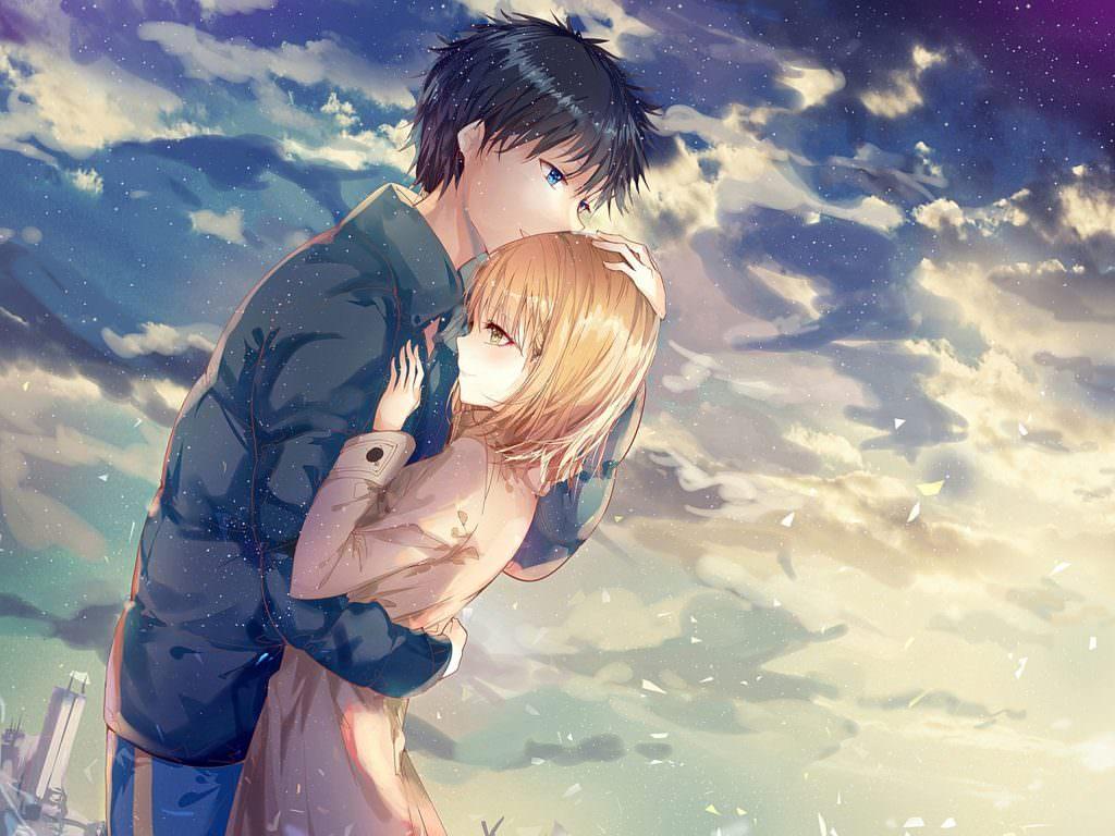 Anime Couple Names name music - anime couple hugging (#272558) - hd wallpaper