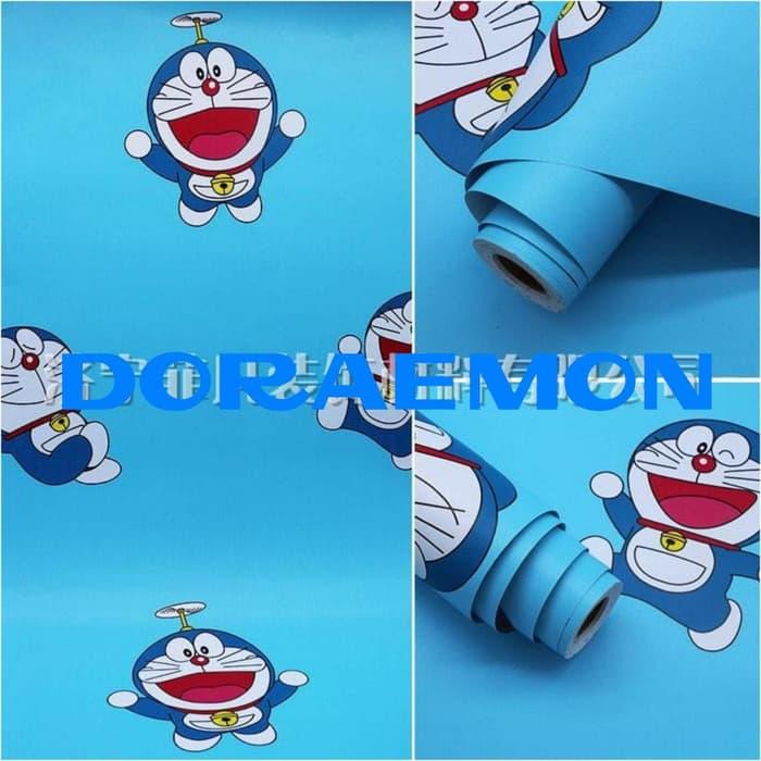 Jual Wallpaper Sticker Dinding Doraemon 45cm X 10m Stiker