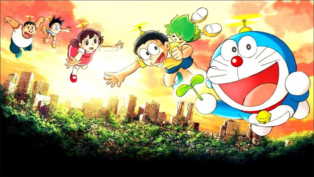 Background Doraemon Bergerak Keren Wallpaper Doraemon - Doraemon Wallpaper Hd , HD Wallpaper & Backgrounds